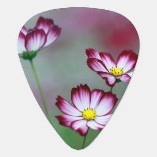 Art pourpre rose de paix d'amour de fleurs de onglet de guitare
