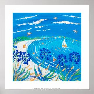 Art Print: Agapanthus, Pentle bay Beach, Tresco Poster