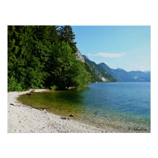 Art print lake in Austria