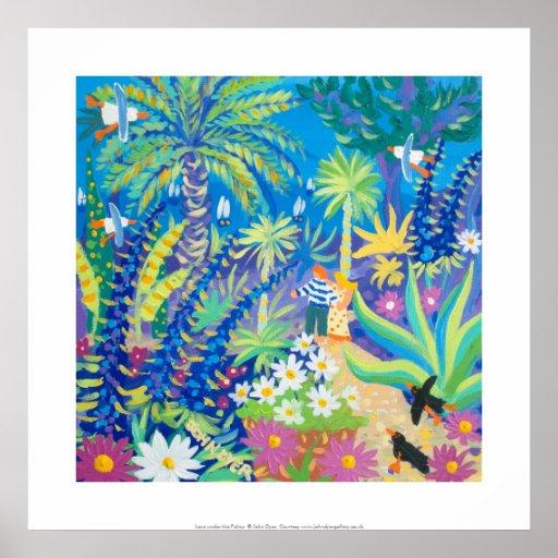 Art Print: Love under the Palms Abbey Garden Poster