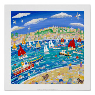 Art Print: Mad Dogs and Cornishmen, Falmouth Poster
