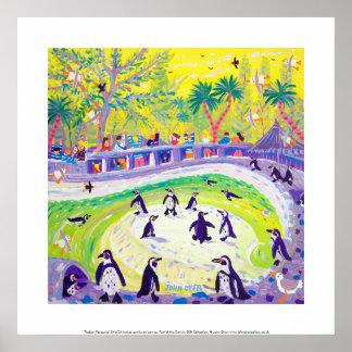 Art Print: Peckish Penguins Poster