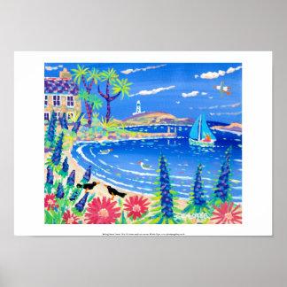 Art Print: Sailing Home, Tresco. Cornish Art Print