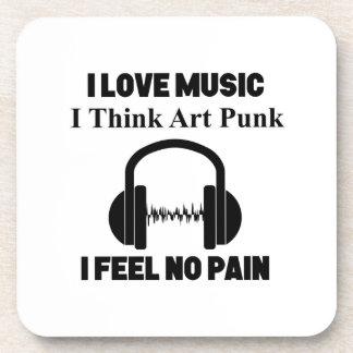 art punk design coaster