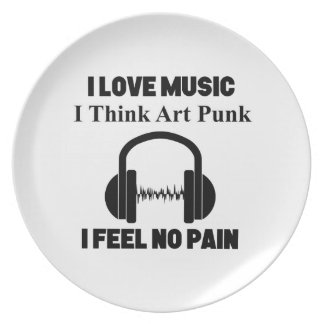art punk design plate