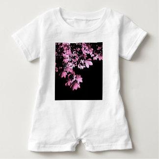 Art purple foliage baby romper