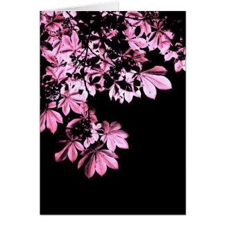 Art purple foliage card