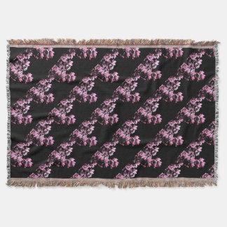 Art purple foliage throw blanket