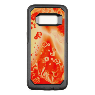 Art Red Yellow Abstract Pattern OtterBox Commuter Samsung Galaxy S8 Case