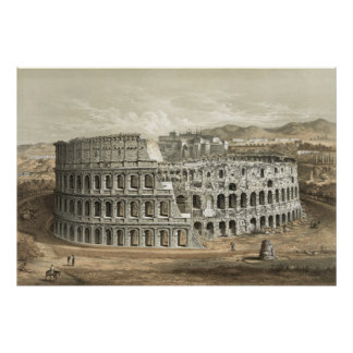 Art romain de cru de Colisé Posters