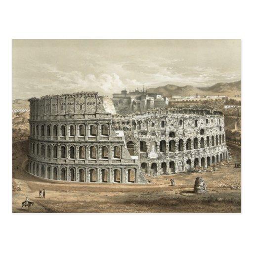 Art romain de cru de Colisé Carte Postale