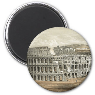 Art romain de cru de Colisé Magnet Rond 8 Cm