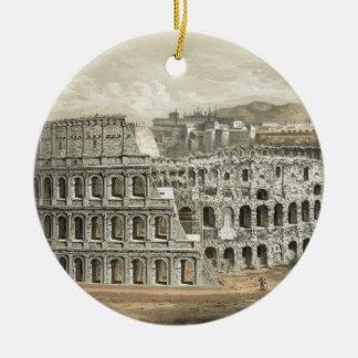 Art romain de cru de Colisé Ornement Rond En Céramique