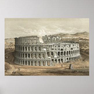 Art romain de cru de Colisé Poster