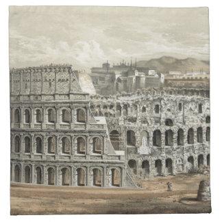 Art romain de cru de Colisé Serviette En Tissu