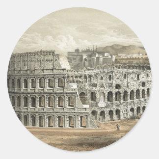 Art romain de cru de Colisé Sticker Rond