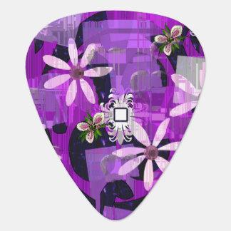 Art rose et pourpre de fleur onglet de guitare