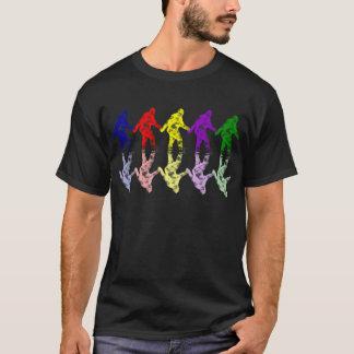 ART SCHOOL SQUATCH - Colourful Bigfoot Logo T-Shirt