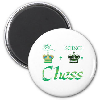 art+science=Chess 2 Inch Round Magnet