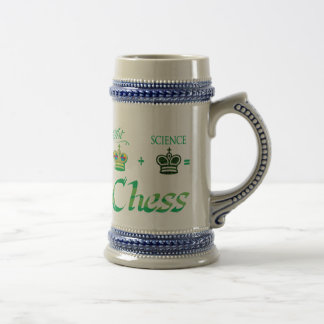 art+science=Chess Beer Stein