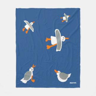 Art Seagull Fleece Blanket by John Dyer