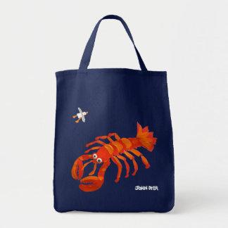 Art Shopper Beach Bag: John Dyer Seagull & Lobster Grocery Tote Bag