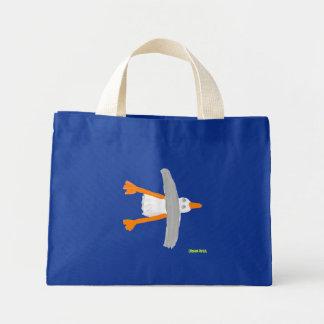 Art Shopping Bag: John Dyer Seagull, Blue