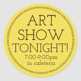 Art Show Tonight Stickers