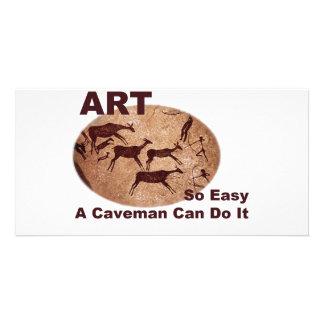 Art- So Easy A Caveman Can Do It Card