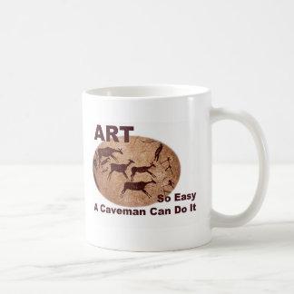 Art- So Easy A Caveman Can Do It Classic White Coffee Mug