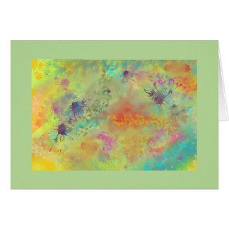 Art Splatter Custom Blank Card