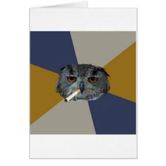 Art Student Owl Advice Animal Meme Greeting Card