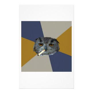 Art Student Owl Advice Animal Meme Stationery Design