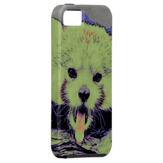 Art Studio 12216 yawning red panda iPhone 5 Cases