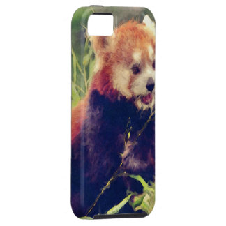 Art Studio 15216 red Panda Case For The iPhone 5