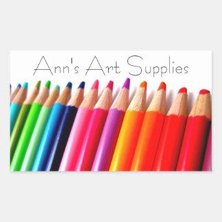Art Supplies Label