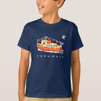 Art T shirt: Cornish Tee Shirt. Ferry Boat.
