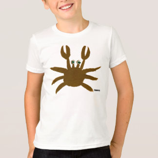 Art T-Shirt: Crazy Crab Seaside Holiday Seagull T-Shirt