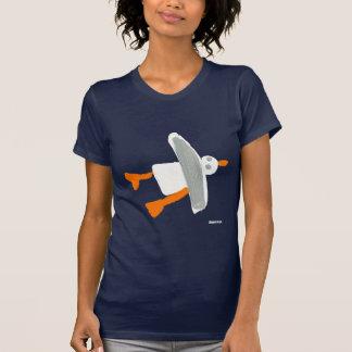 Art T-Shirt: Seagull Front and Back Design T-Shirt