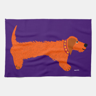 Art Tea Towel: Sausage Dog by John Dyer