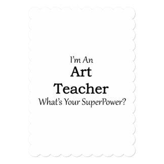 "Art Teacher 5"" X 7"" Invitation Card"