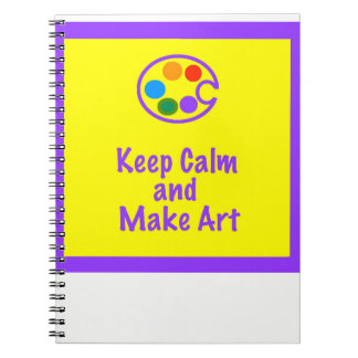 Art Teacher NoteBook - Keep Calm and Make Art 2