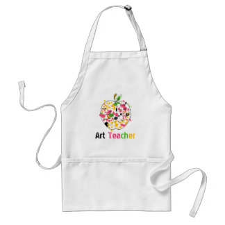 Art Teacher Paint Splatter Apple Apron