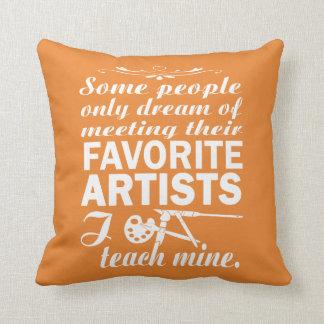 Art Teacher Throw Pillow