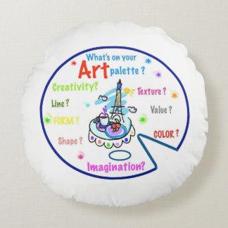 Art Teachers Art Palette Pillow