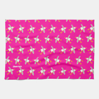 Art TeaTowel John Dyer Seagulls Pink Kitchen Towels