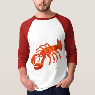 Art Tee-Shirt: Large Red Lobster T-Shirt