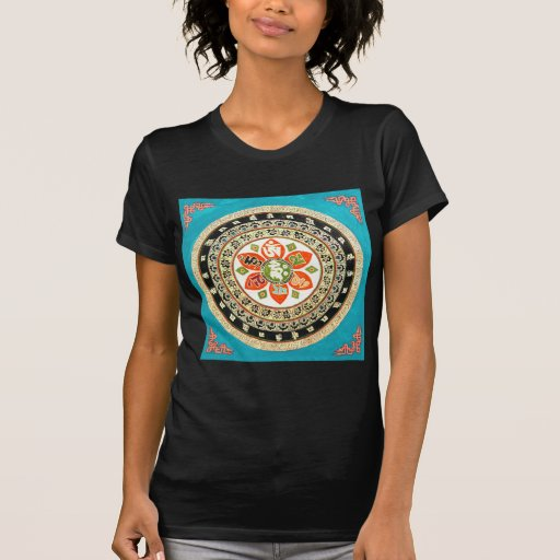 Art tibétain de mandala t-shirts