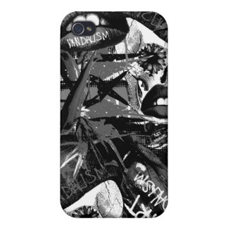 Art.vandalism monochrome iPhone 4/4S cover