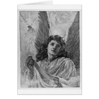 Art victorien de Noël d'ange vintage Carte De Vœux